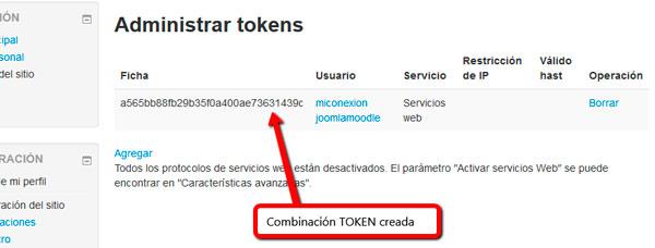 Ficha token creada