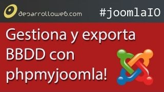 Gestiona y exporta bases de datos…