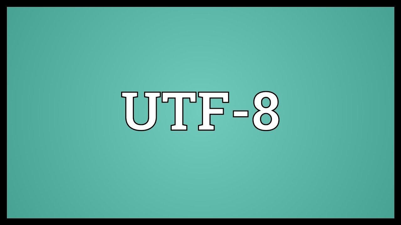 Codificación UTF-8