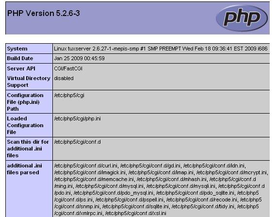 Información de PHP
