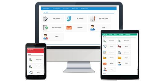 Template responsive web design