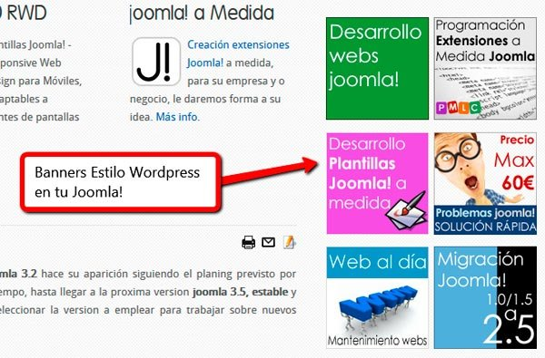 Banners estilo WordPress