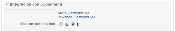Integración con JComments del módulo JU News Ultra v1.5