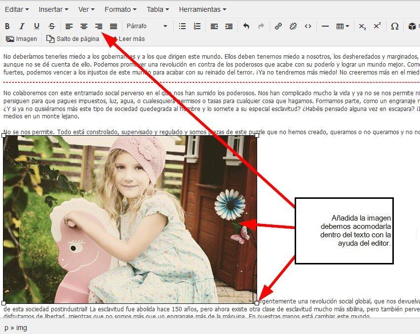 Situar imagen dentro del texto