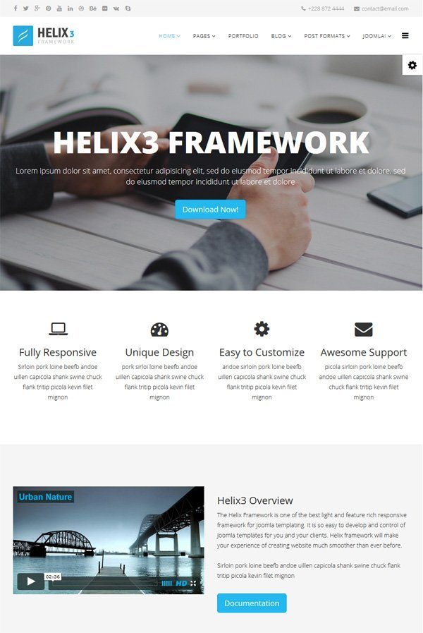 Helix 3 framework joomshaper