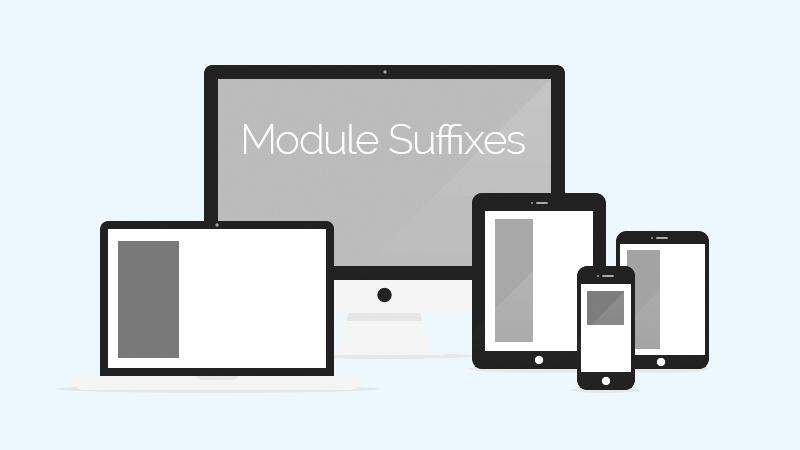 Custom module class suffix